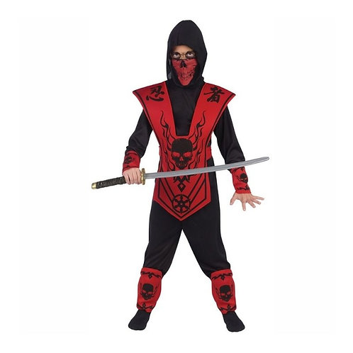 FUN NINJA RED-BLACK CARNIVAL COSTUME