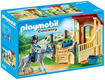 PLAYMOBIL 6935 COUNTRY - Horse Stable with Appaloosa