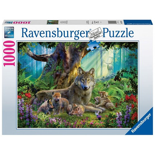 RAVENSBURGER PUZZLE 1000 PCS WOLVES IN THE FOREST