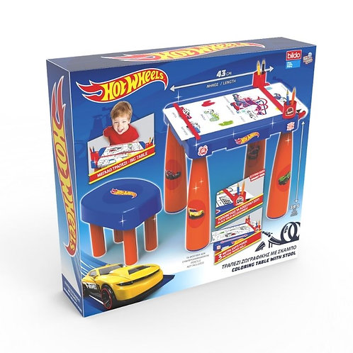 BILDO HOT WHEELS COLORING TABLE WITH STOOL (9617)