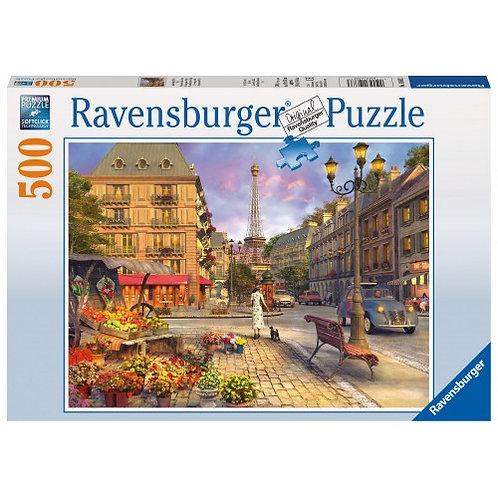 RAVENSBURGER PUZZLE 500 PCS A WALK IN PARIS
