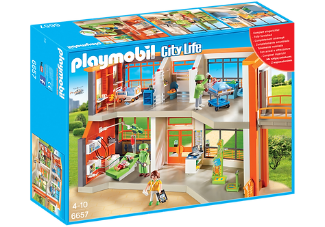 PLAYMOBIL 6657 CITY LIFE - Furnished Children's Hospital