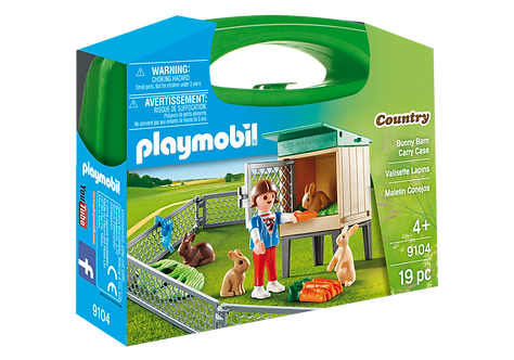 PLAYMOBIL 9104 COUNTRY - Bunny Barn Carry Case