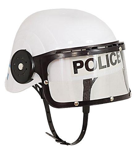 POLICE HELMET - WHITE