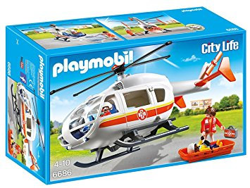 PLAYMOBIL 6686 CITY LIFE - Emergency Medical Helicopter