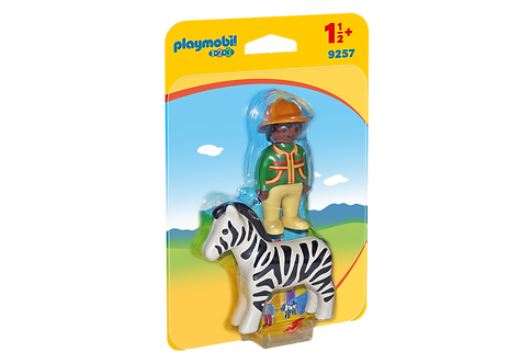 PLAYMOBIL 9257 1.2.3 - Ranger with Zebra
