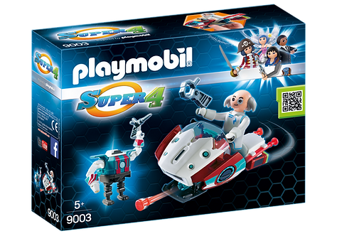 PLAYMOBIL 9003 SUPER 4 - Skyjet with Dr. X & Robot