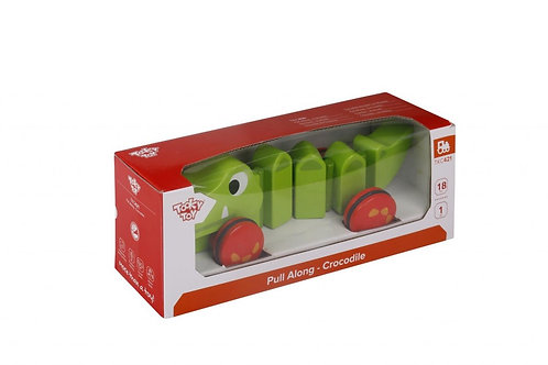 TOOKY TOY - PULL ALONG CROCODILE