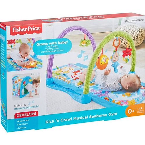 FISHER-PRICE KICK 'N CRAWL MUSICAL SEAHORSE GYM (DRD92)