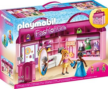 PLAYMOBIL 6862 FASHION GIRLS - Fashion Boutique with Changeable Clothing