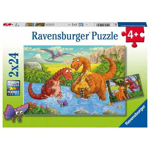 RAVENSBURGER PUZZLES 2X24 PCS DINOSAURS