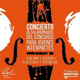 CONCIERTO DE GALARDONADOS Concurso Jóvenes Intérpretes