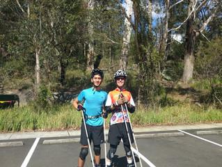 Roller-ski session at Lane Cove