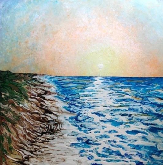 Orange Beach [acrylic]