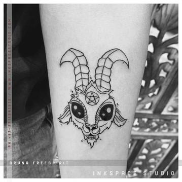 Goat Devil Tattoo