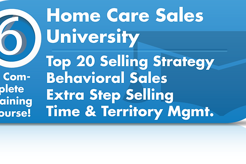 Virtual Home Care Sales University (Video Training)