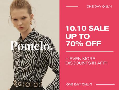 Enjoy Massive Savings this 10.10 on Pomelo!