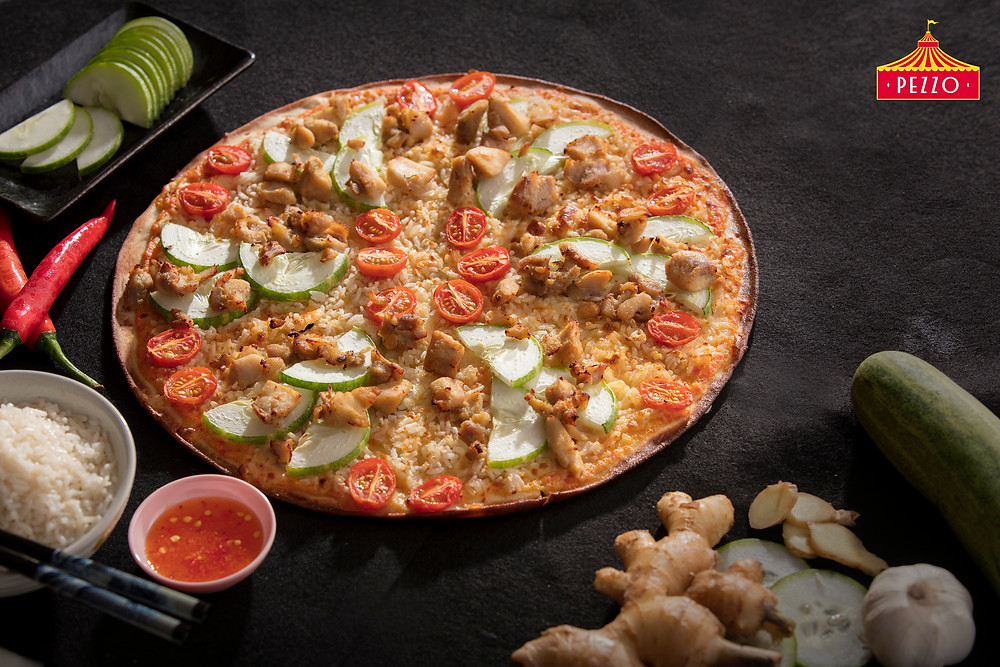 First-ever Chicken Rice Pizza in Singapore from Pezzo Pizza!