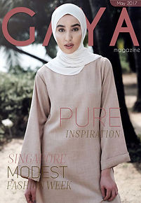 Gaya Magazine April issue - Hijab fashion, Modest Fashion, Muslim Fashion, Singapore Modest Fashion Week, London Modest Fashion Week, MFA Boutique