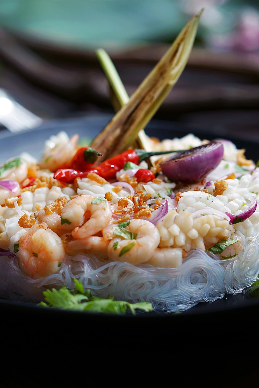 Saltwater Ramadan Seafood Kerabu with Rice Vermicelli