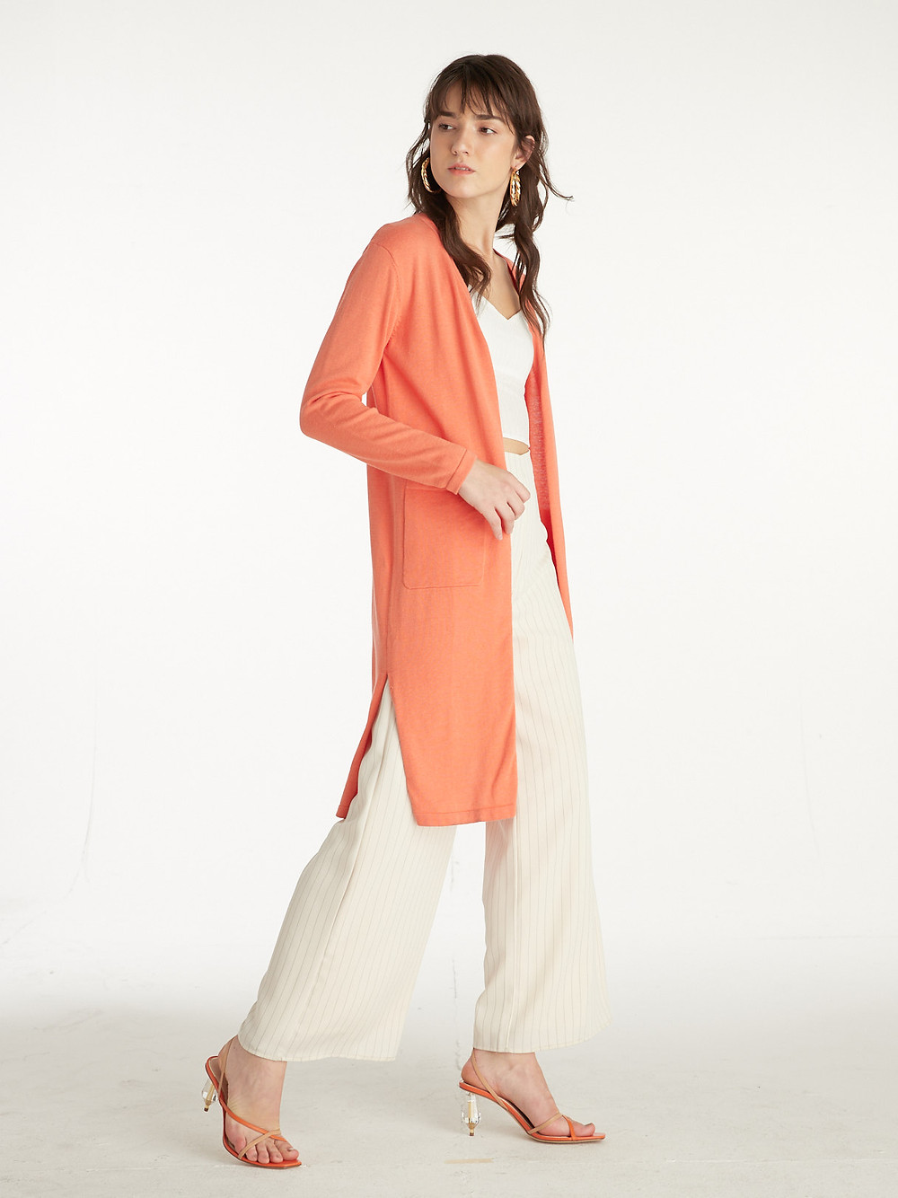 Styles on Sale - Front Pockets Long Cardigan