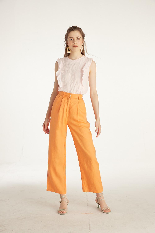 Styles on Sale - Frill Sleeveless Top