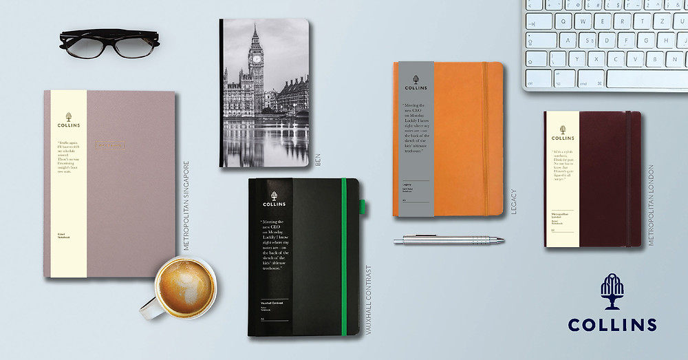 Embrace Minimalist Chic with Vibrant Collins Debden Notebooks