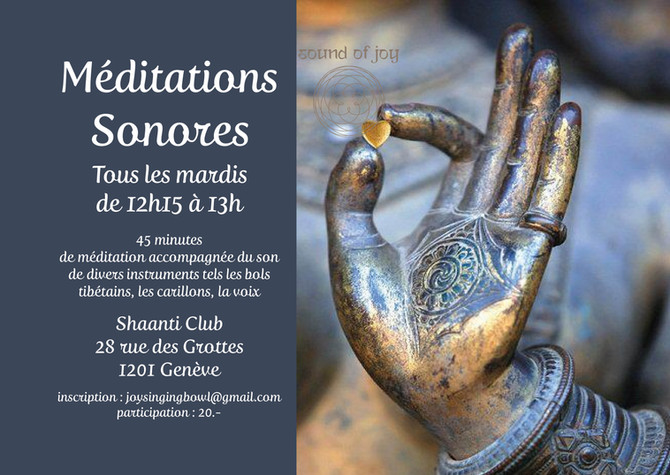 Sound Meditation at Lunch Time on Tuesday