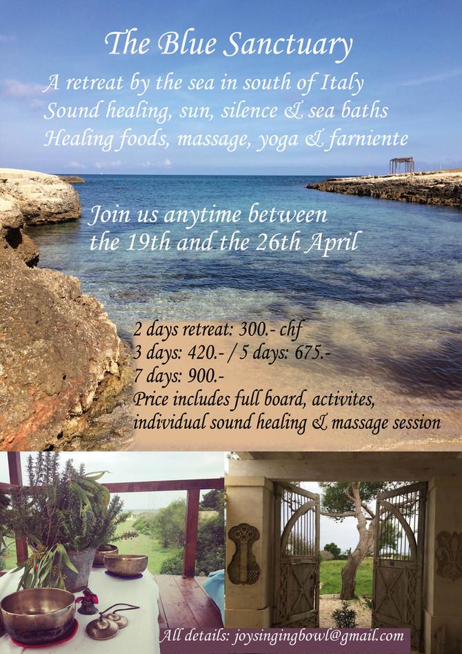 April Retreat ~ Yoga, Massage & Sound Healing