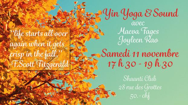 Yin Yoga & Sound