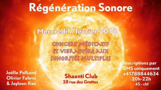Sound Regeneration February