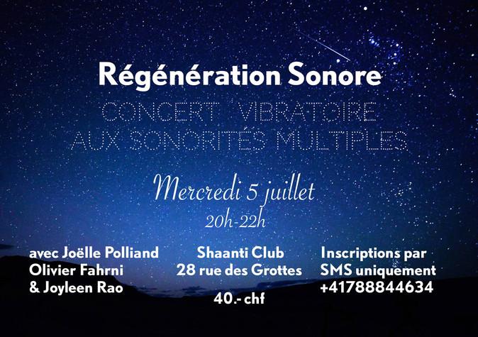 Sound regeneration with Olivier Fahrni & Joëlle Polliand