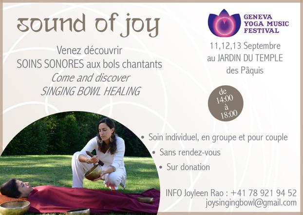 Sound of joy at Geneva Yoga Music Festival