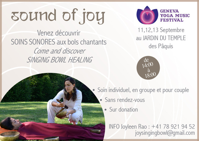 Sound of joy at Geneva Yoga Music Festival