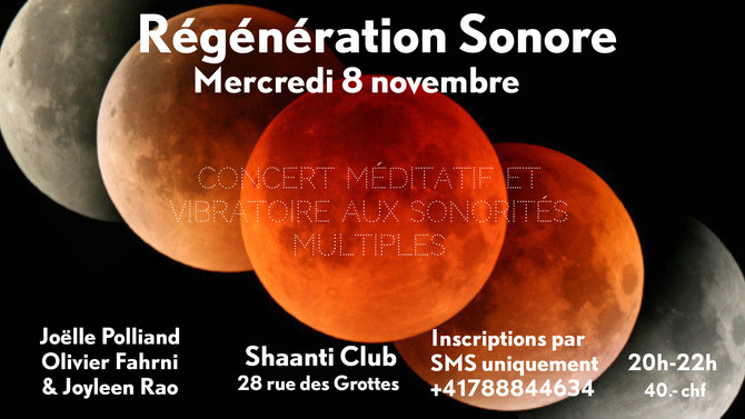 Sound Regeneration with Olivier Fahrni & Joëlle Polliand