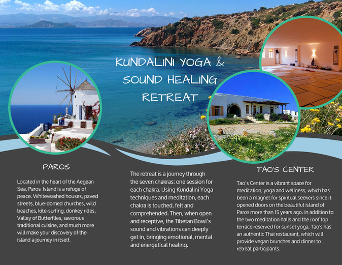 Kundalini Yoga & Sound Healing retreat in Paros, Greece
