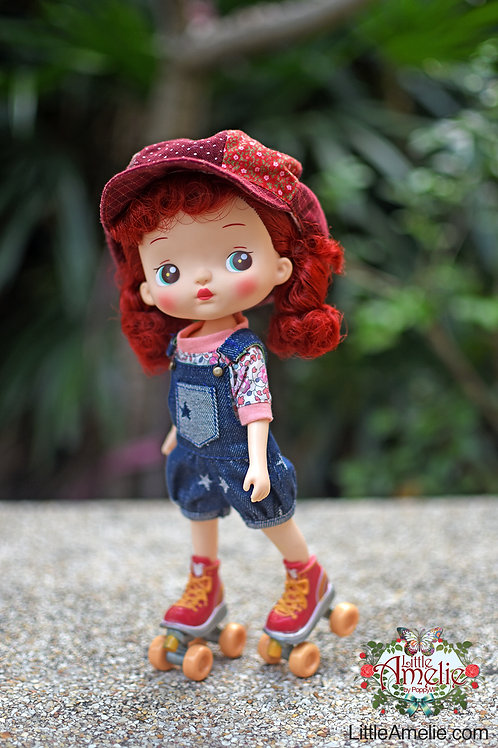 Top and Denim Overalls for Holala Doll