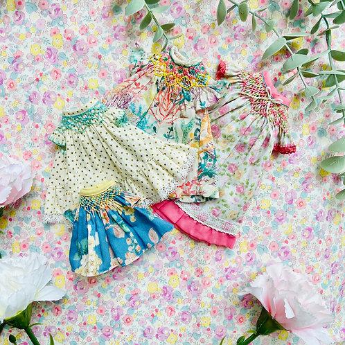 Eng-PDF Pattern Bishop Smocked Dress Blythe/Lati-Y/YoSD