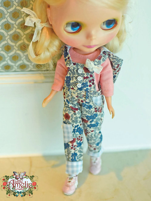 Patterns and English Instructions of Hooded Overalls and Blouse for Blythe