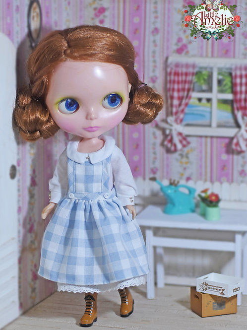 Patterns and English Instructions of Dress and overall skirt for Blythe, Momoko