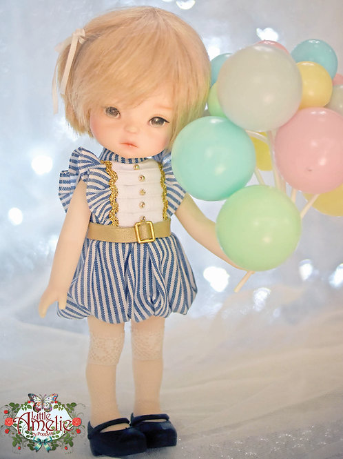 Patterns and English Instructions of Balloon dress for 20 cm doll,Middie Blythe,