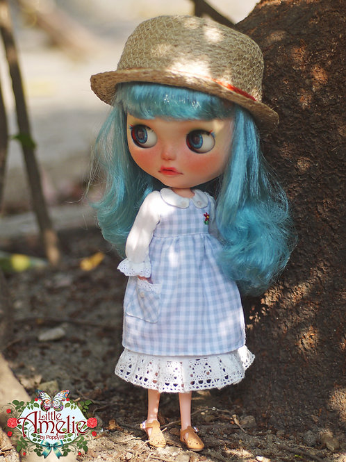 Patterns and English Instructions of Gingham dress for Blythe Doll