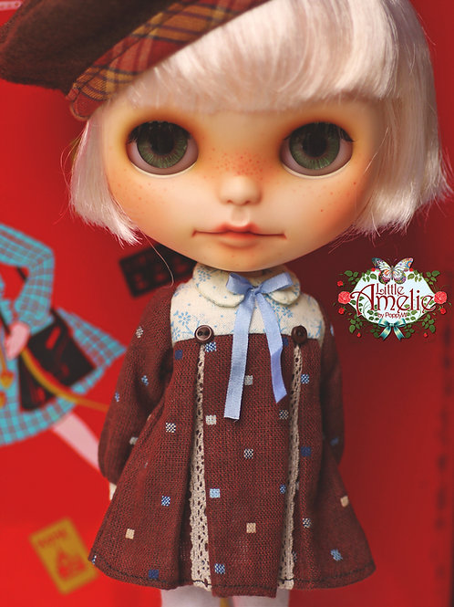 Patterns and English Instructions of Babydoll dress for Blythe, Licca 4th Gen