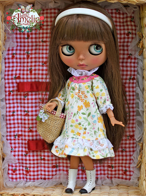 Patterns and English Instructions of Vintage dress for Blythe