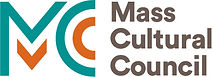 """Logo for """"Mass Cultural Council"""" with stylized MC in teal and orange."""