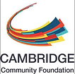 """Logo: words """"Cambridge Community Foundation"""" and a colorful swoosh."""