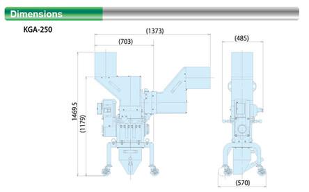 Dimensional Drawing (KGA-250)