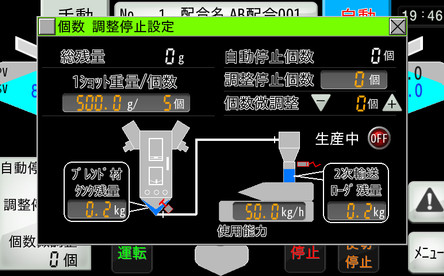 Use-over mode (number adjustment stop)