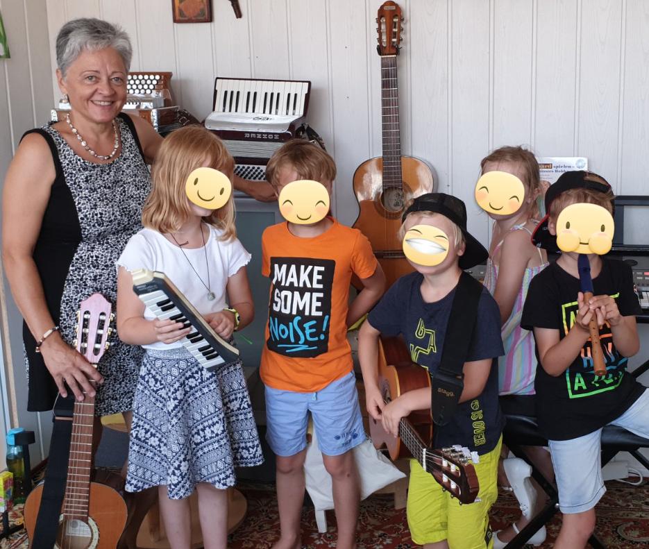 Kinder Musikinstrumete Parkstetten Musikunterricht