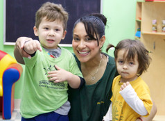 Our beloved teacher Ana with Children